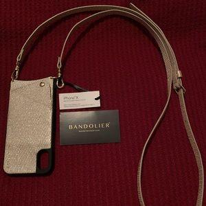 New BANDOLIER iPhone X XS crossbody wallet case